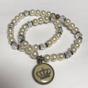 Crown Bracelets, set of 2